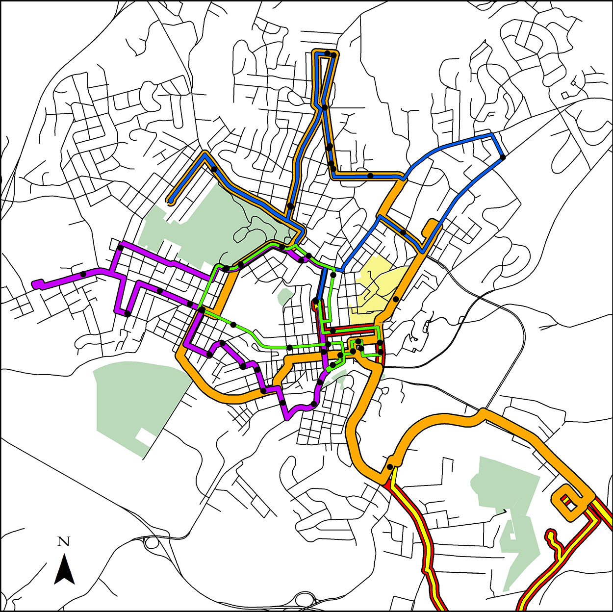 staunton bus routes map