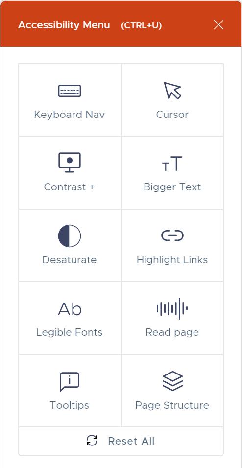 userway tool menu