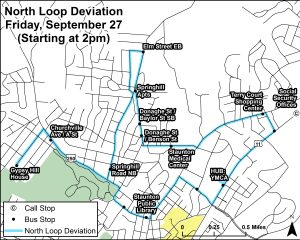 North Loop Deviation for QCMM 9/27