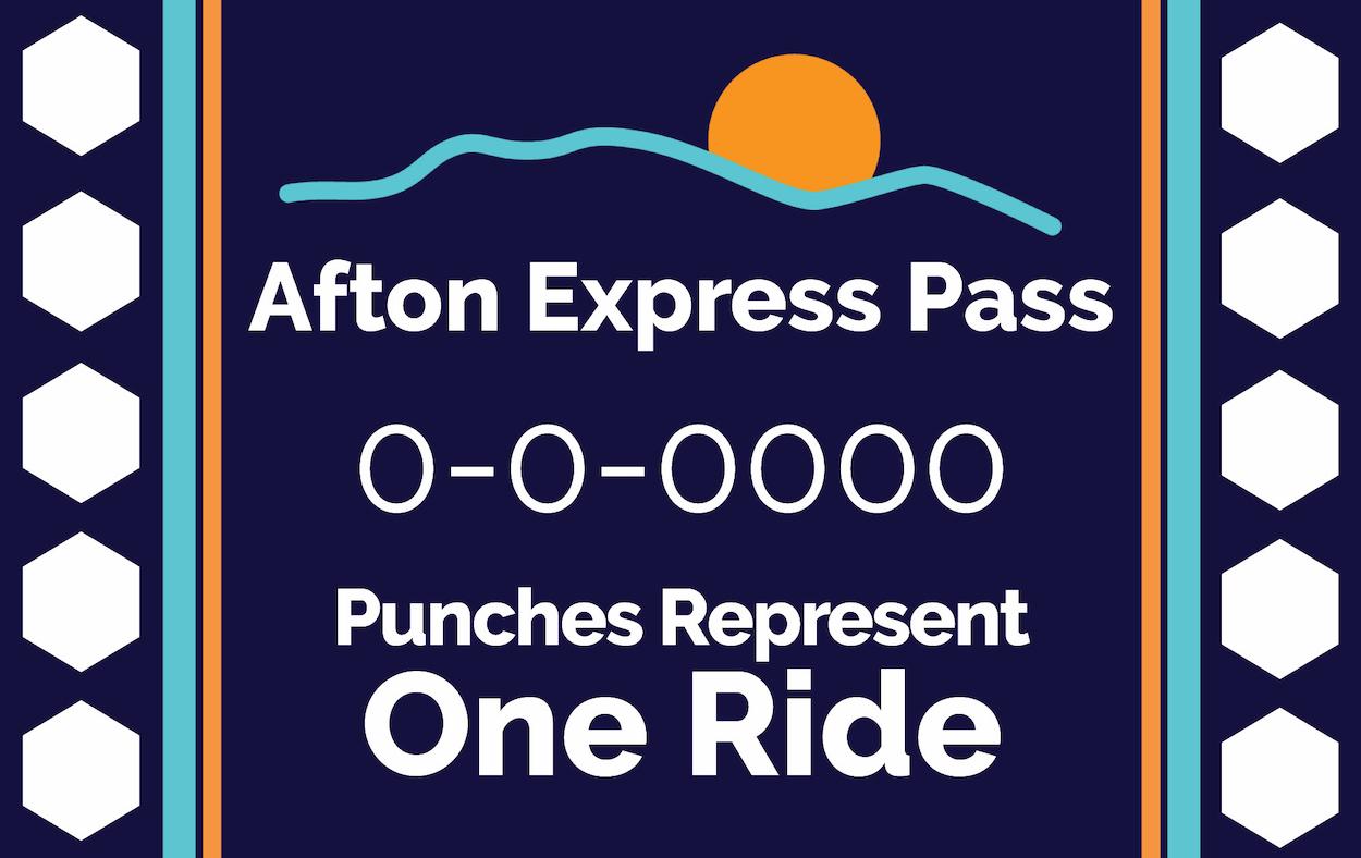 afton express punch card