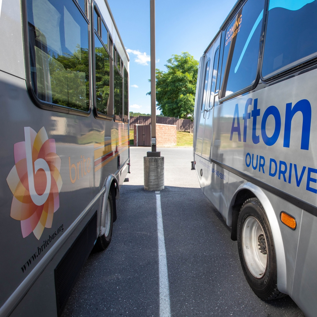 BRITE & Afton Express buses